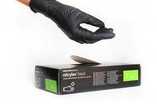 Перчатки нитриловые Меркатор Black S 100шт