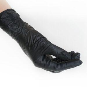 Перчатки нитриловые Меркатор Black XS 100шт