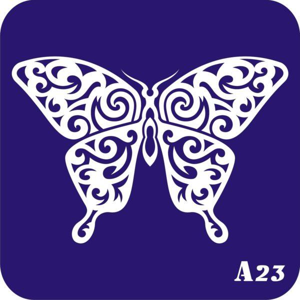 "Трафареты для био тату 15×15 см ""бабочки"""