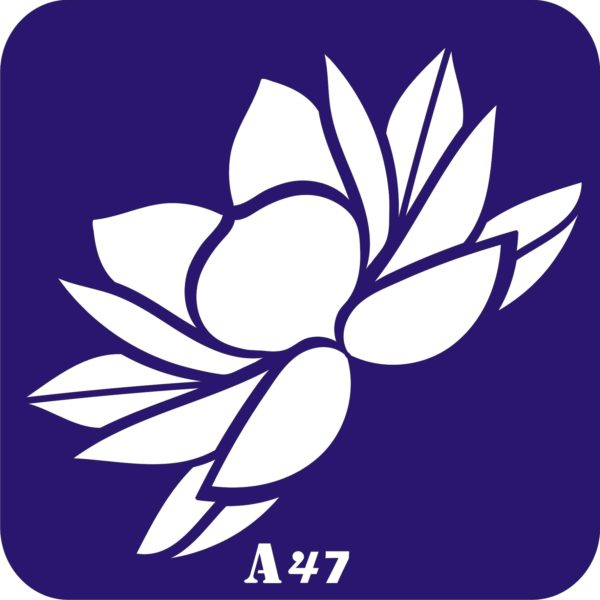 Трафареты для био тату 15×15 см «цветы»