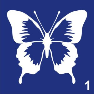 Трафареты для био тату 6×6 см «бабочки»