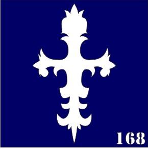Трафареты для био тату 6×6 см «кресты»