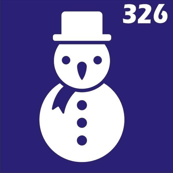 Трафареты для био тату 6×6 см «Новый год»