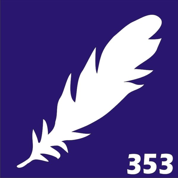 Трафареты для био тату 6×6 см «перья»