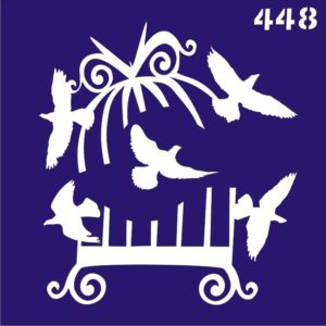 Трафареты для био тату 6×6 см «птицы»