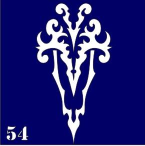 Трафареты для био тату 6×6 см «трайбл»