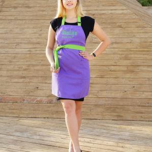 Фартук косметолога biolife Фиолетовый+салатовый